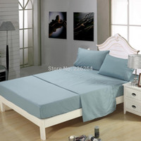 Wholesale Queen Size Homehug Luxury Embroidered Pc Bed Sheet Set Soft Polyester BLUEGREY Queen Size