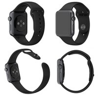 Wholesale Smartwatch Silicone Strap Band Replacement Sport Watch Wrist Straps With Connector Adatptor Adjustment Length For Apple Watch Iwatch mm