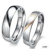 Wholesale Hot Selling New Arrival Crystal CZ Stone Stainless Steel Engagement Wedding Band Ring True Love Couple Rings