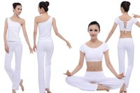 Wholesale 2015 Women Lady Summer Yoga Outfits Sets High end Customized Modal Suits Pants Blouse Soft Gym Clothing High Quality Clothing Lungewear