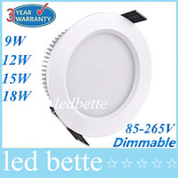 Wholesale Dimmable W W W W Led Downlights Angle Inch Recessed Led Downlight Warm Cool White Silver White Shell V Drivers