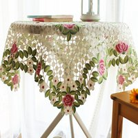 lace tablecloth - S amp V Embroidery tablecloths christmas table cloth rectangular toalhas de mesa lace tablecloth home decorations for new year