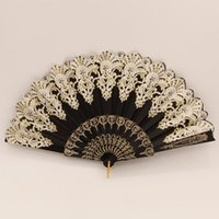 Wholesale 8 Colors Spanish Dancing Lace Fans High Quality Bridal Fan Bridal Accessories Performance Dancer Fan Fashion Fan Retail