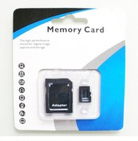 Wholesale 100 Genuine GB Micro SD Card Memory Card TF Card Full Real GB with Adapter retail packaging for Cell Phone MP3 Tablet PC