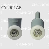 Wholesale shower room single wheels roller pulley curved glass door swing round circarc sliding door pulley