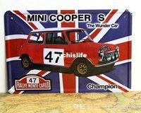 Wholesale MINI COOPER S metal poster CAR style Tin Signs Decor Home Club Bar Cafe Hotel x12 inch x30cm CA08