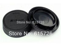 Wholesale Wholesase Pairs camera Body cap Rear Lens Cap Hood Protector for nikon SLR DSLR