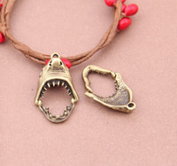Charms bronze charms - Bronze Shark s Tooth Charms Necklace Pendants earrings Pendants DIY Charms Jewelry Findings Components