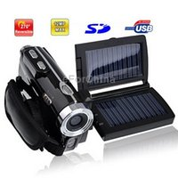 Wholesale 3 inch MP Solar Powered X Zoom DV Digital Video Camcorder Max pixels Mega pixels Interpolation