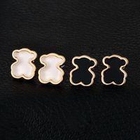 bear studs - joyas Gold Plated Lovely Cute pendientes to us bear Stud Earrings Women brincos pendientes oso Charm boucle doreille buho