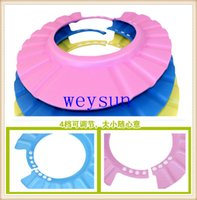 shower cap - DHL Freeshipping Lovely Soft Shampoo Bath Shower Cap for Child Kid Baby Wash Hair Shield Hat Yellow Pink Blue