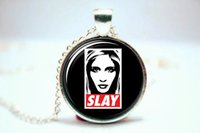 american vampire - 10pcs Buffy The Vampire Slayer Inspired Slay Necklace Glass Photo Cabochon Necklace1
