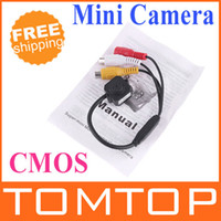 Wholesale Promotion Super Mini Micro Color Wired CMOS Camera Monitor PAL mm Lens S102 freeshipping dropshipping
