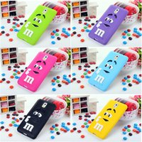 Cheap For Samsung Galaxy N9000 M&M Silicone Case,New 3D Colorful Candy Color Cute Lovely M&M Silicone Case Cover For Samsung Galaxy Note3 N9000