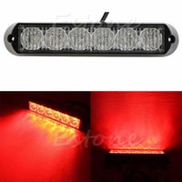 Wholesale LED DRL Car Truck Emergency Beacon Lamp Light Bar Hazard Strobe Warning Red