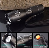 Wholesale Factory Sale CREE LED Flashlight T6 Bicycle Flashlight Torch Rechargeable LED Flashlight PERFECT for Riding Hiking Camping Travelling
