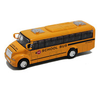 american school buses - 2015 Latest Large Size Scale American School Bus Kids Toys New Style Alloy Bus Car Model Toys for Children