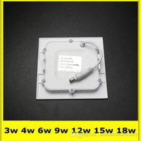 Wholesale 6W warm white Dimmable Square Led Panel Light Led Ceiling lights spotlight downlight lamp driver
