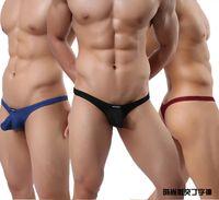 Wholesale 4pcs Sexy Mens G string Thongs Color Men s Ribing Sexy Bikini Thongs Underwear Nightwear M L XL WH35