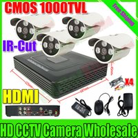 Wholesale HDMI Channel IR Outdoor Surveillance CCTV Camera Kit Home Security ch Network DVR Video Recorder Systems HDD Sell Separately