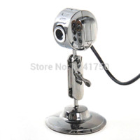 Wholesale Microphone Webcam metal With Mic Night Vision LED For PC Desktop Laptop PC New Webcams