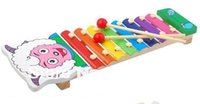 Wholesale 1pcs Kids musical toy Kids Color piano modelling Eight sounds on piano Educational toys pleasant goat