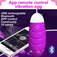 wireless vibrating bullet - 10 speed usb rechargeable bluetooth Vibrating App Wireless Remote Control clitoris Vibrators for Couple Waterproof Silicone Sex Toys