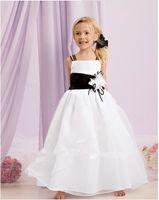 Wholesale Vogue spend children s wear white spot fine aglet applique pageant dress PROM dress size