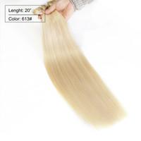 Cheap Nano Ring Hair 613# 200g 1g pc 200pcs lot Human Hair Extensions Straight Nano Ring Remy Brazilian Hair Color 613# Softest Human Hair Weaves