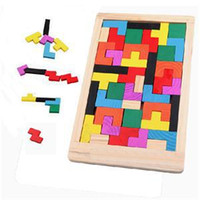 Wholesale 2014 New Kawaii Clever Puzzle Cute Children Toys Wooden Tangram Brain Teaser Jigsaw Board