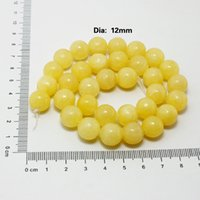 Wholesale 2015 Natural Jade Beads mm Approx set Yellow Jade beads for DIY Jewelry DH BTB580