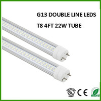 Cheap Fedex Free LED Tube 22W 4ft T8 Double Line LED Lamps Replacement 50W Fluorescent Tubes 1200mm Warm Cold White SMD 2835 LED tube Light
