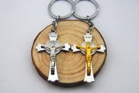 Alloy amulet movie - NEW Religion Key Chain Jesus Crucifixion amulet Alloy keychain wedding favors keychan cm cc32
