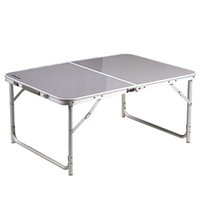Wholesale 100X70X44cm Light Weight Aluminum COMPACT FOLDING TABLE Outdoor Camping Picnic Table order lt no track