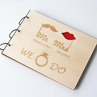 Wholesale Custom Wood Wedding Guest Book Wedding Present Anniversary Gift Bride and Groom Bridal Shower Book Wedding Photo Album