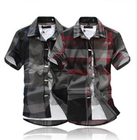 Wholesale new brand summer high quality men shirt slim fit short sleeve shirts men s dress chemise manche courte homme
