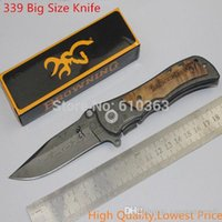 Wholesale Hot Sale HIGH QUALITY f1 BROWNING classics folding knife navy outdoor survival hunting camping knife saber army knives hy217 A5