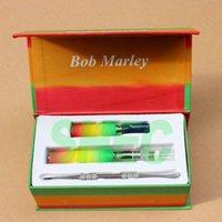 Cheap Dry herb E-cigarettes kits vaporizer Wax dry herb tank Bob Marley luxury box kit Electronic Cigarettes