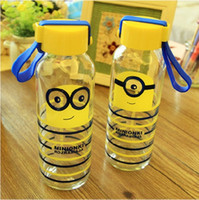 Wholesale Car Water Cup Cartoon Minions Despicable Me glass Texture Suction Cup Vacuum Cup ML