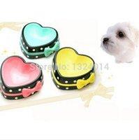 ceramic dog bowl - Cute Colorful Pet Bowl Non slip Lovely Heart shape Pet Ceramic Bowl for Dog Cat Gift Colors