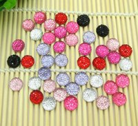 Wholesale Hot Sale Kawaii Mixed Cute Resin Bling Round Flatback Cabochon Craft Embellishment