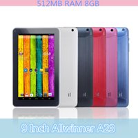 Wholesale 9 Inch Allwinner A23 Dual Core Tablet PC Android MB RAM GB Tablet PC GHz Wifi Capacitive Screen Dual Camera T900 JBD