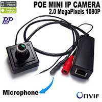 Wholesale 1080P POE Power Over Ethernet Mini IP Camera Hidden Camera Network Security IP Camera ONVIF Audio Microphone Camera
