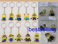 action figure design - DHL free cm pvc minion Keys Chain Kids D Despicable Me Minions Action Figure Keychain Keyring mixed more designs Randomly