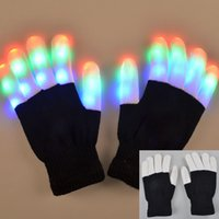 best kids mittens - Flashing Finger Lighting Gloves LED Colorful Rave Gloves Colors Light Show Flash Mitten Luminous Best Party Props