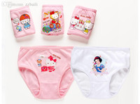 Wholesale HOT Selling Girl Kitty Underwear Princess Panties With Lace Edge Popular Briefs For Baby Girls T