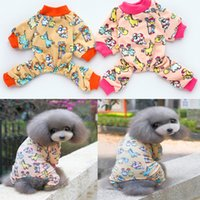 Wholesale New dog clothes four legs Home Furnishing wear pajamas cute cartoon pattern XS XL