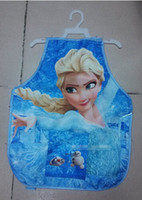 Wholesale 18 OFF Y Frozen elsa anna apron and goggles waterproof coat painting Children painting play Christmas gifts apron pcscuff