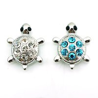 Wholesale mm Snap Buttons Color Rhinestone Tortoise Metal Clasps Fashion DIY Ginger Snaps Chunk Accessories Jewelry