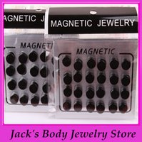 Wholesale magetic ear stud mix color mm steel magnetic earrings round fake earring ear piercing ear stud